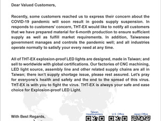 Announcement Letter for Our Customers and Business Partners.