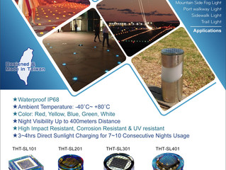Embedded Solar Lights for Outdoor Aesthetic Illumination & Route Safety Guide Illumination.