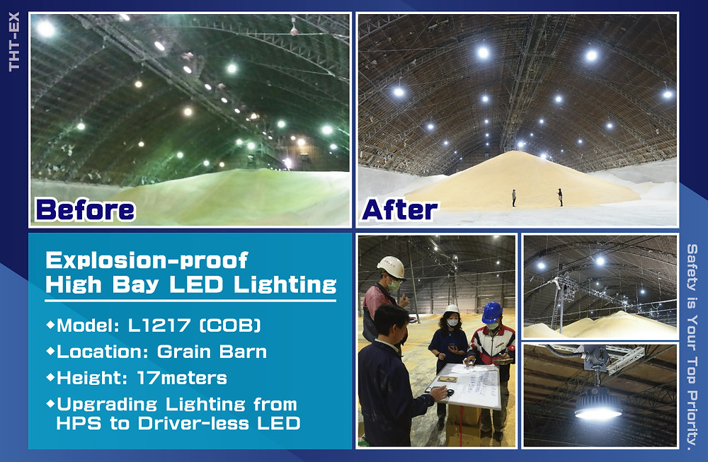 "Explosion-proof LED Lighting Installation - ""Before & After"""