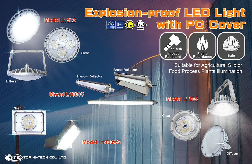 Explosion Proof LED Lighting with PC Cover
