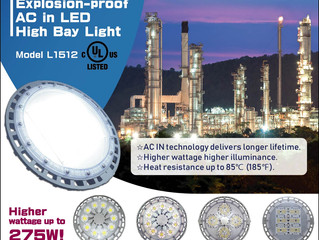 New! 275W Explosion-proof LED High Bay Light L1512 was Granted UL Certification!