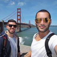 San Fran touristing, obligatory Golden Gate Bridge pic. Early 2018