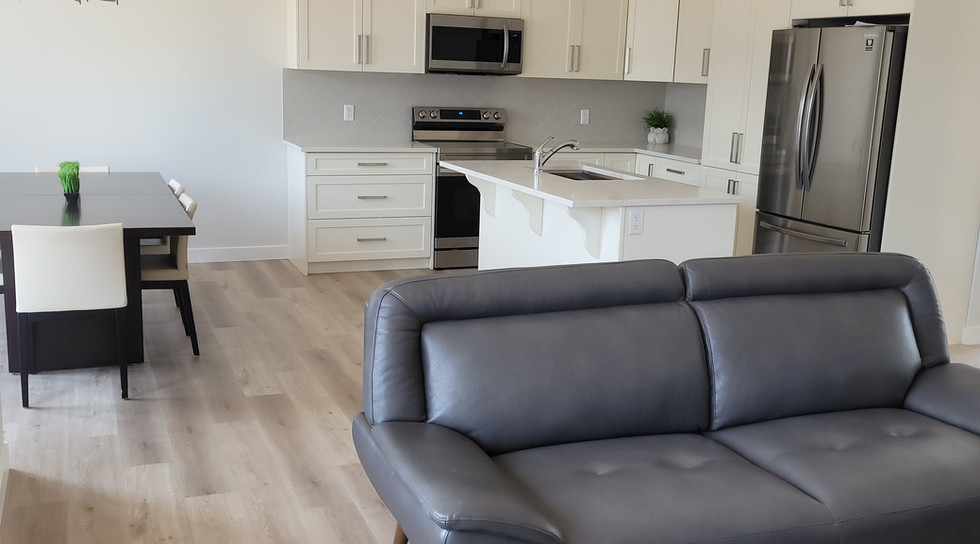 Living Room looking to kitchen/dining