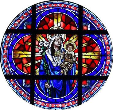 Mother & Child Jesus Rose window