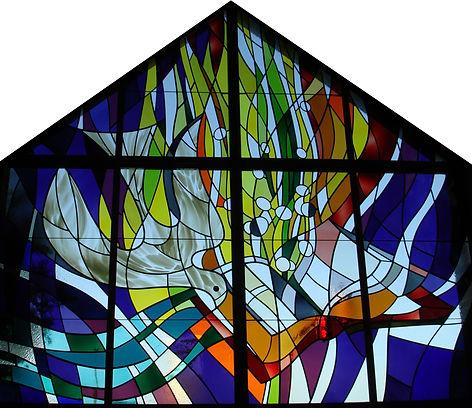 Holy Spirit religous window