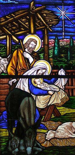 Nativity religous window