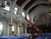Installation of religious church windows