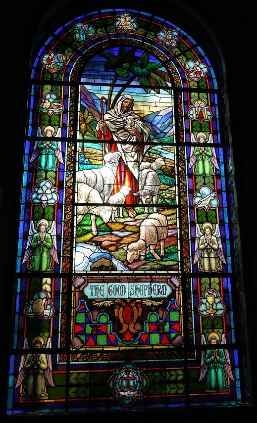 Restored Good Shepherd church window