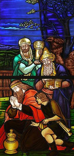 nativity church window