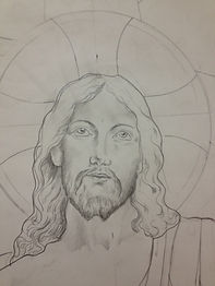 ascension of jesus stained glass design