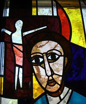 crucifixion of jesus church window