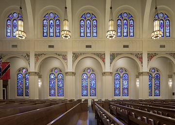 Trinity Cathedral stained glass restoration