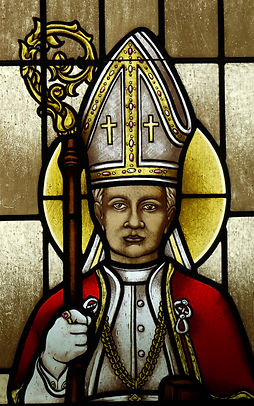 Pope Pius X stained glass