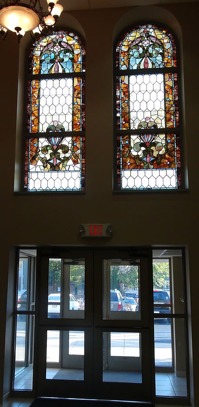 Refurbished stained glass windows