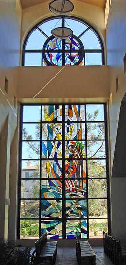 installed church window