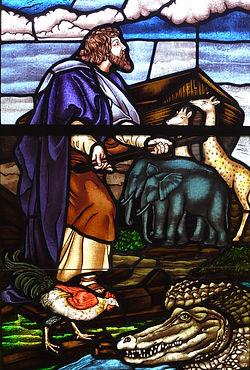 Noah's Ark traditional window
