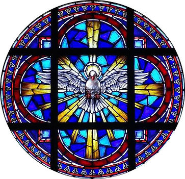 Holy Spirit Rose window