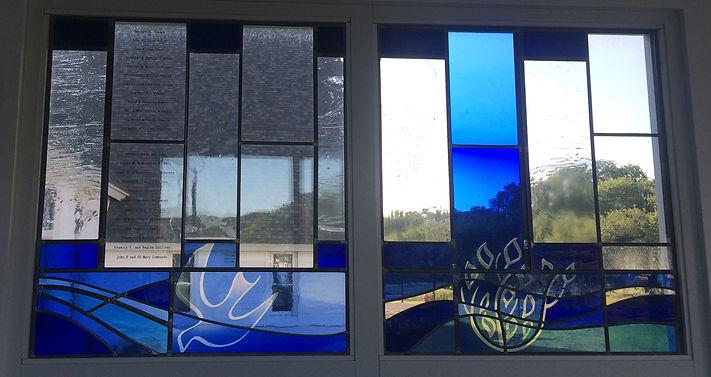 holy spirit religious window