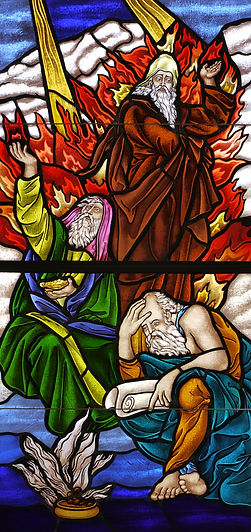 Old Testament New Testament church windows