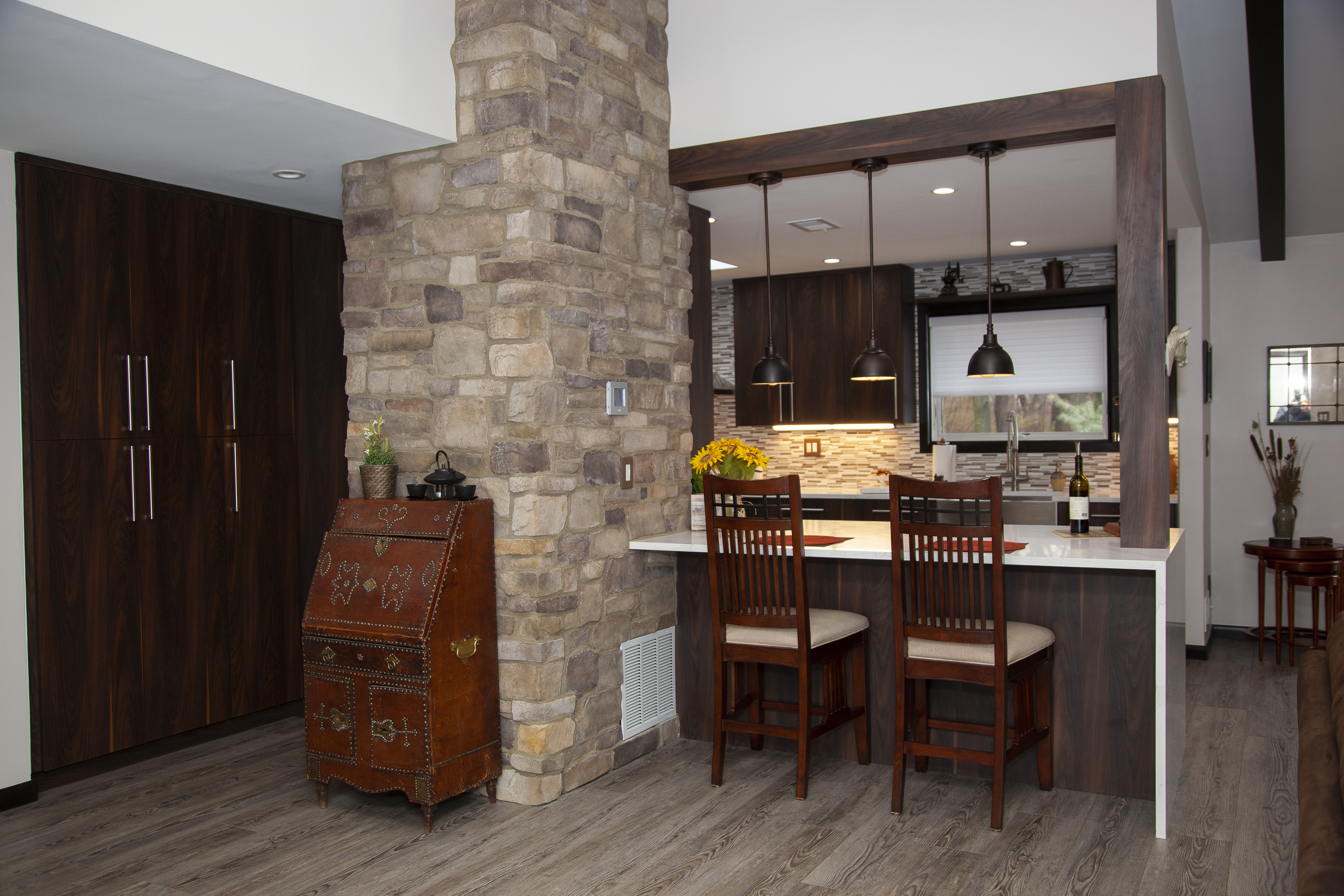 Stone Wall for bar area