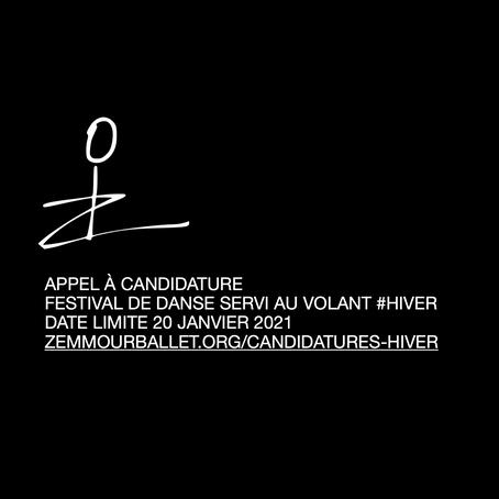 APPEL À CANDIDATURE FESTIVAL DE DANSE SERVI AU VOLANT #HIVERDATE LIMITE 20 JANVIER 2021zemmourbal