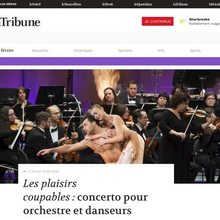 Article de presse Spectacle avec l'Orchestre Symphonique de Sherbrooke