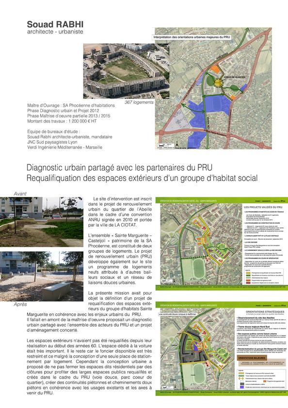 PRU habitat social - projet en qualité d'urbaniste à La Ciotat - Souad Rabhi