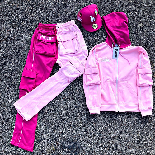 Pink 2-Toned Stacked Tracksuit