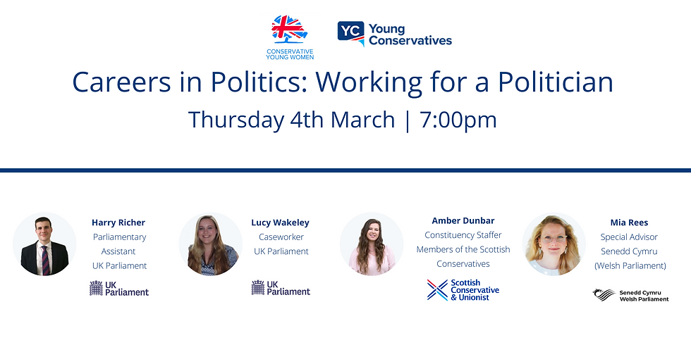 Careers in Politics: Working for a Politician Event with Barnet Young Conservatives