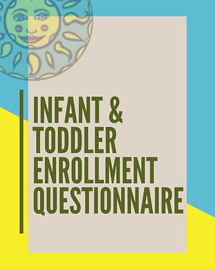 SE Infant & Toddler Enrollment Questionn