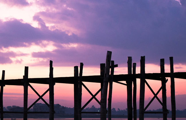 U Bein Bridge Sunrise