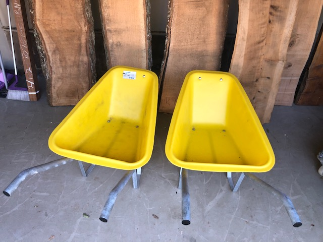 HEAVY DUTY CUSTOM BUILT WHEELBARROWS