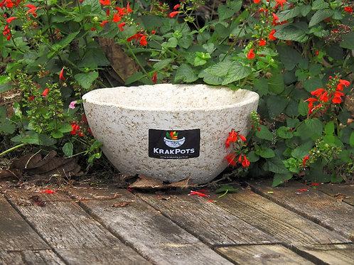 Classic Medium Round High Wall Pot. Light Weight Natural Stone Look & Feel