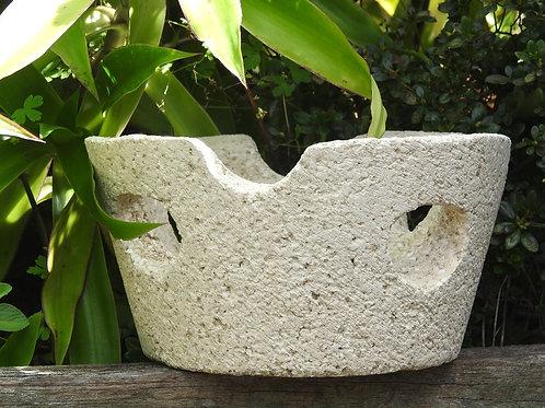 Peekaboo Pot. Light Weight Natural Stone Look & Feel.