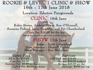 Join us for our first Level 1 show of the year at Ilderton