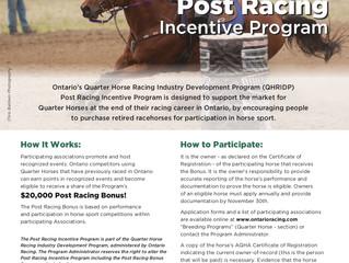 2019 Post Racing Bonus Program Expands!