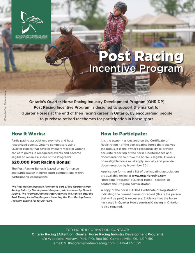 2019 Post Racing Bonus Program Expands!