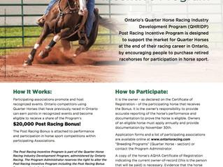 Post Racing Incentive Program