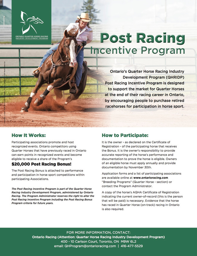 Post Racing Incentive Program