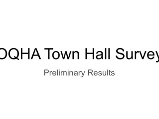 Preliminary Townhall Meeting Results