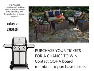 Get Your Tickets for the OQHA Raffle!!!