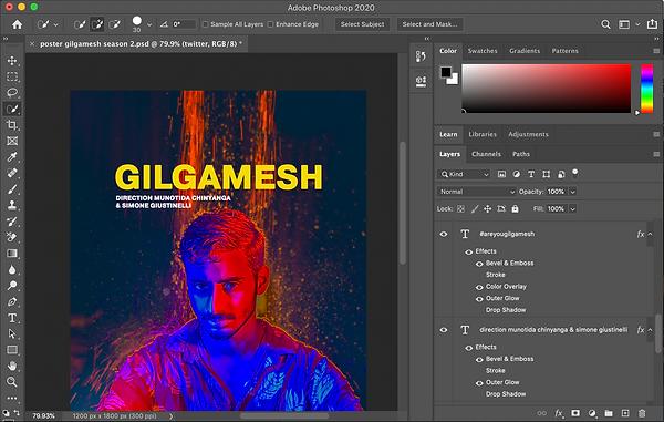 Gilgamesh Poster Art in Photoshop by Munotida Chinyanga
