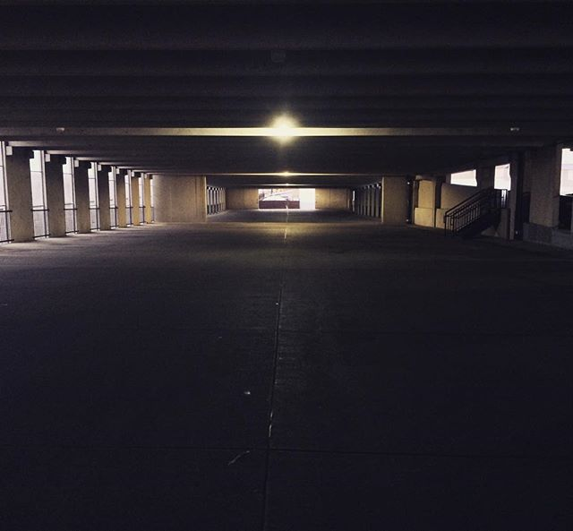Silence is golden #morning #early #ict #wichita #sunrise #ramp #parking #garage #car #cars #mood #ci