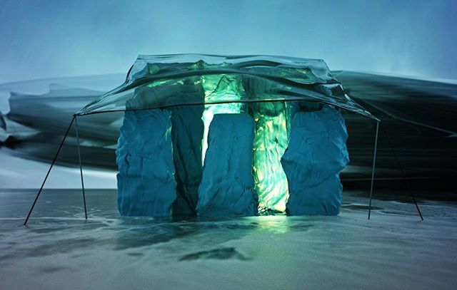 CAMP__#render #3D #concept #art #camp #scifi #escape #glow #mood #winter #cold #ice #snow #terrain #