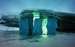 CAMP__#render #3D #concept #art #camp #scifi #escape #glow #mood #winter #cold #ice #snow #terrain #