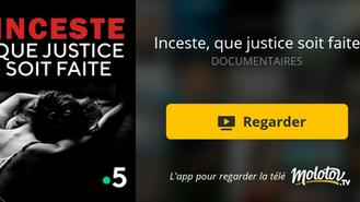 """Un très beau documentaire auquel j'ai participé """"Inceste que justice soit faite"""""""