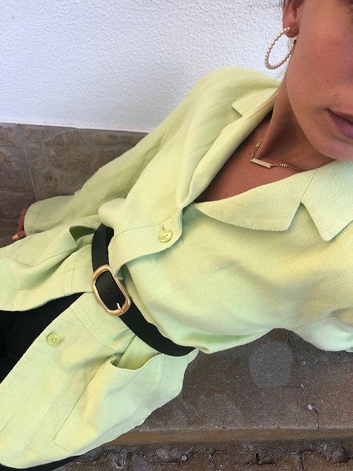 Fresh green linen shirt jacket