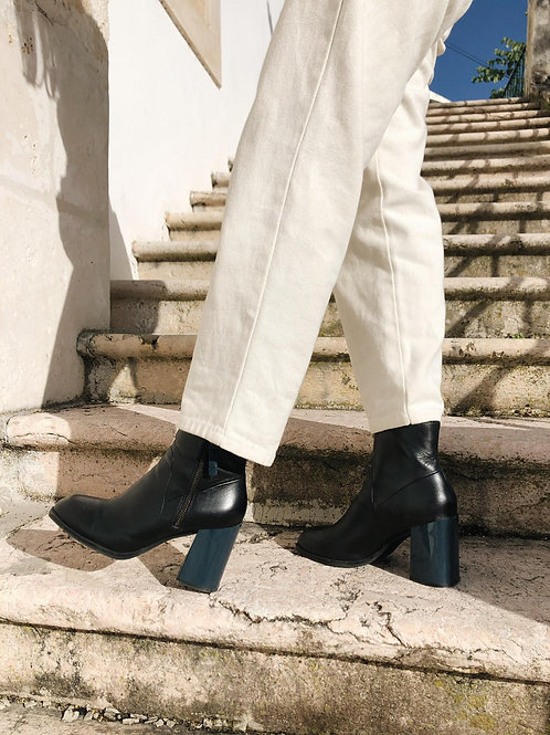 Chunky heel G-star RAW leather ankle boots