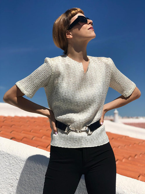 Textured pearl shirt