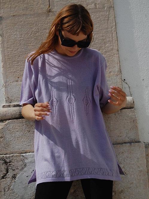 Lilac vintage knit